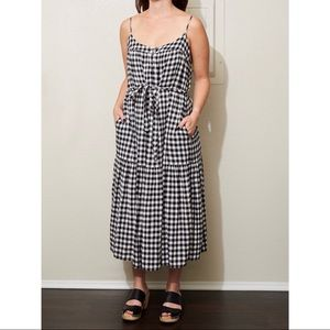 Lucky Brand Gingham dress size small with pockets